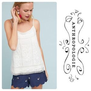 New Meadow Rue Laney Embroidered Cami White Large
